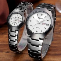 Stainless Luxury Formal Analogue Watch - White Black