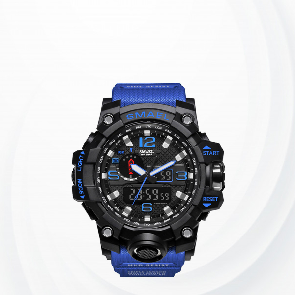 Popular Choice Water Resistant Sports Wrist Watch - Blue