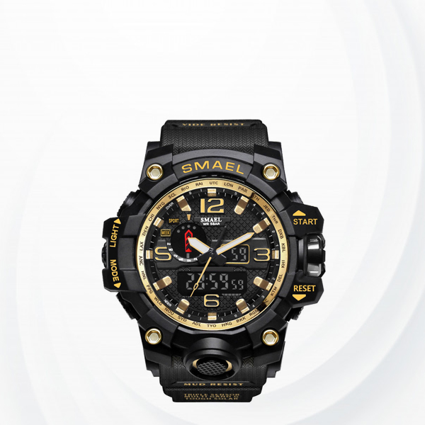 Popular Choice Water Resistant Sports Wrist Watch - Golden