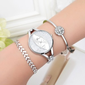 Silver Plated Engagement Gifts Women Wrist Watch