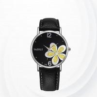 Analogue Dial Yellow Female Wrist Watch - Yellow