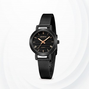 Mesh Roman Dial Exclusive Wrist Watches - Black