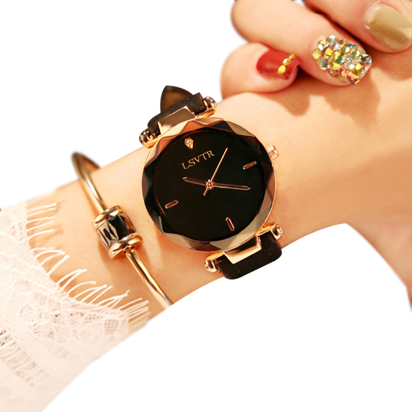 Black Strappy Luxury Party Analogue Watch