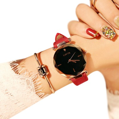 Red Strappy Luxury Party Analogue Watch