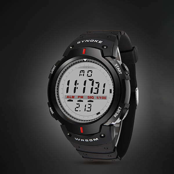 Digital Dial Black Outdoor Sports Mens Watch