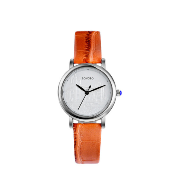 Latest Design Elegant Ladies and Lovers LONGBO Wrist Watch Orange
