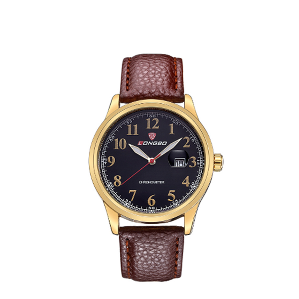 LONGBO Hot Watches Top Brand Leather Strap Casual Style for Men