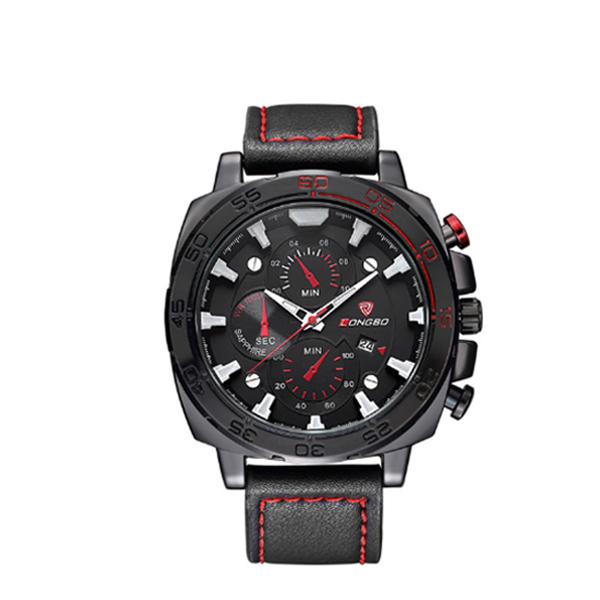 Men Fashion Sports Watch Military Wrist Watch Black