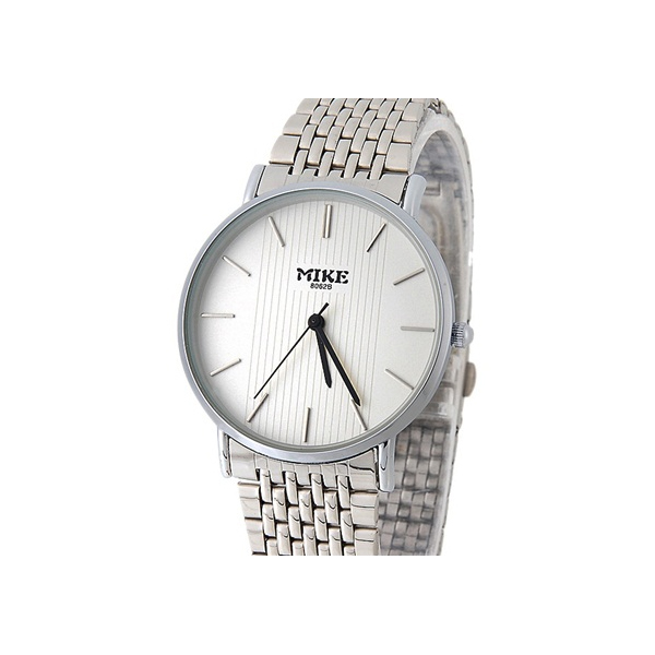 White Dial Stainless Couple Analogue Watches - Silver