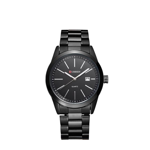 New Curren Mat Black Luxurious Watch For Men