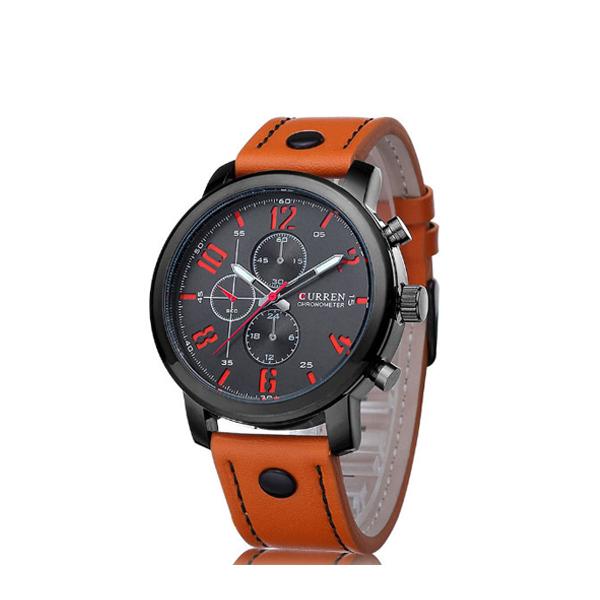 Men Watch Quartz Wristwatch Men Curren Leather Watches