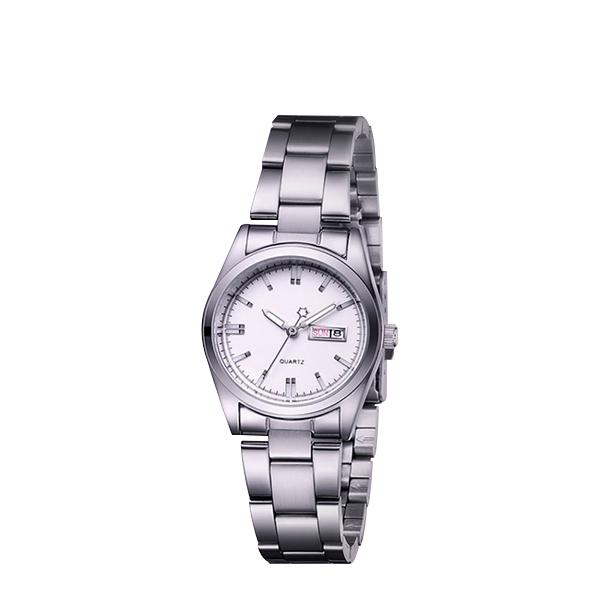 Female Fashion Stainless Steel Quartz Wrist Watch White
