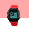 Water Proof Rubber Strapped Sports Wrist Watch - Red