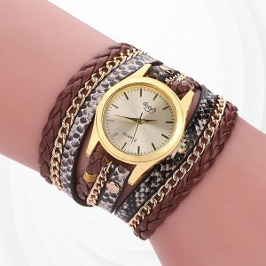 Party Wear Bracelet Band Analogue Wrist Watch - Coffee