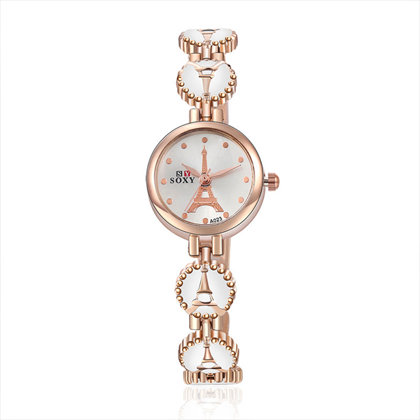 Cute Beads Style Boho Bracelet Wrist Watch - White