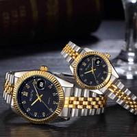 Designers Wear Stainless Luxury Couple Watch - Black