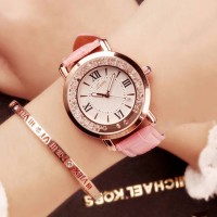 Pink Strappy Roman Dial Wrist Watch