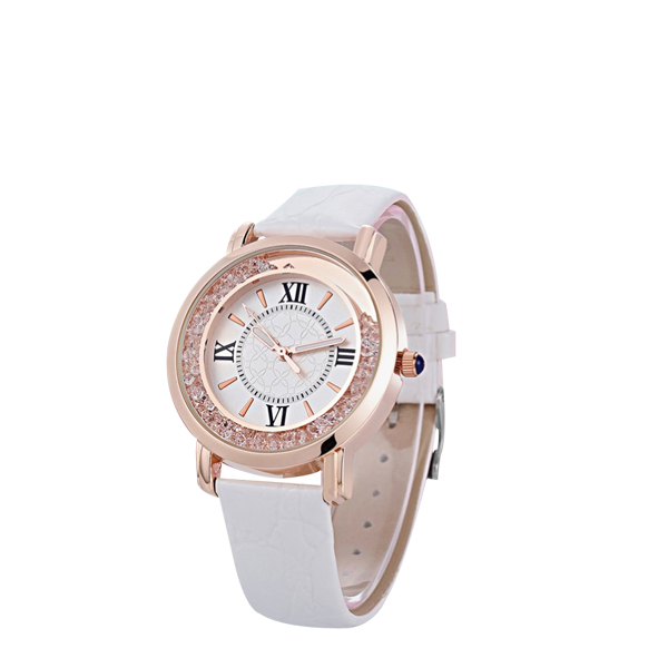 White Strappy Roman Dial Wrist Watch